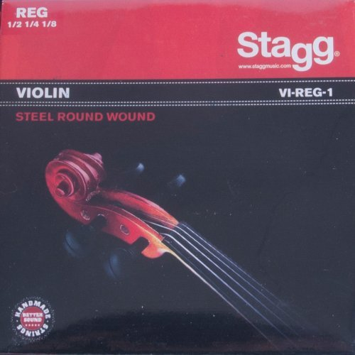 STAGG VI REG 1 VIOLIN 1/2+1/4+1/8 STEEL ROUNDWOUND SET  EXTRA LIGHT