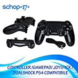 JOYSTICK JOYPAD con filo WIRED COMPATIBILE PS4 PER PLAYSTATION 4 CONTROLLER NERO no jack cuffie immagine