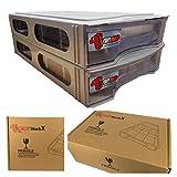 Papimax StackX 2.0 Steine Sortieren und Lagern Aufbewahrungsbox Stapelbare Weiß 6+ (2 Boxen)
