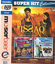 Issaq , Pyaar Ka Punchnama , Tere Bin Laden 3 Movies In One DVD+Free CD
