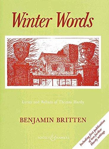 BOOSEY & HAWKES BRITTEN BENJAMIN - WINTER WORDS Classical sheets Voice solo, piano