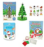 GEO-VERSAND Mädchen Jungen Spielzeug Set Geschenke Paket Konvolut Spielsachen (Set 9) Geschwister Basteln Ton Figuren Tattoo