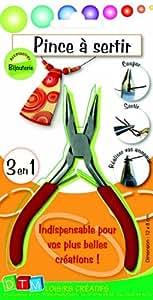 DTM - Pince à sertir les perles - Loisirs créatifs - 3 en 1