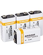 AmazonBasics 9 Volt Everyday Alkaline Batteries (4-Pack)