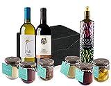 """Geschenkkorb Vegan italienisch """"Ligurien Riviera"""" mit Ligurischen Delicatessen von Bauernhof Cuvea (Italien) - Ohne Konservierungsstoffe - Ohne Farbstoffzusatz"""