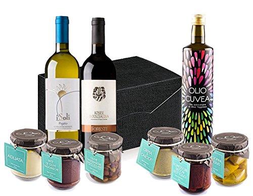 Confezione vegan più: cesto natalizio vegano con prodotti tipici dell'az. agr. cuvea ricco di specialità gourmet della liguria - idea regalo originale