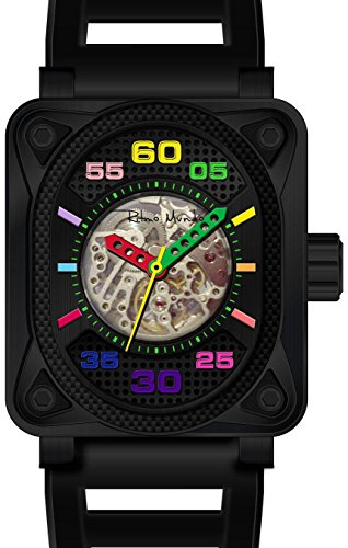 Ritmo Mundo 'Hulk' Japanese Automatic Stainless Steel and Silicone Casual Watch, Color: (Model: 1300/1 Black Multi)