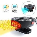 Riscaldatore Per Auto,12V 150W Termoventilatore Multifunzionale per Auto,Riscaldatore in Ceramica,2 IN 1Sbrinatore auto Defogger Ventilatore riscaldamento auto 3 uscite Un supporto rotante a 180 °