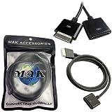 MAK (TM) 19 CORE Dock Connector Extender Rallonges Câble pour iPhone 4S 3GS iPod touch iPad 3 Appui HDMI, VGA, transmetteur FM, station d'accueil, musique de jeu