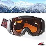 F2 Skibrille Oversize, S2 Optik orange getönt 100% UV-Schutz Snowboardbrille ideal für  Skihelm ~yx