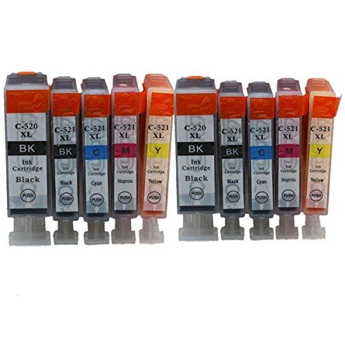 Preisvergleich Produktbild Generisch Kompatible Tintenpatronen Ersatz für Canon PGI 520XL 520 XL CLI 521XL 521 PGI-520 PGI-520XL CLI-521 CLI-521XL PGI-520XL CLI-521XL Tintenpatronen Hohe Kapazität kompatibel für Canon PIXMA IP3600 IP4600 IP4700 MX860 MX870 MP540 MP550 MP560 MP620 MP630 MP640 MP980 MP990 Tintenpatronen für Inkjet Drucker (2 Grossen Schwarz,2 Klein Schwarz,2 Cyan,2 Magenta,2 Gelb)