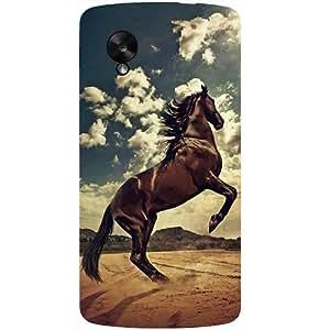Casotec Rising Horse Design Hard Back Case Cover for LG Google Nexus 5
