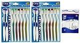 COM-FOUR® 16er Set Handzahnbürste Medium mit abgerundeten Borsten inklusive gratis