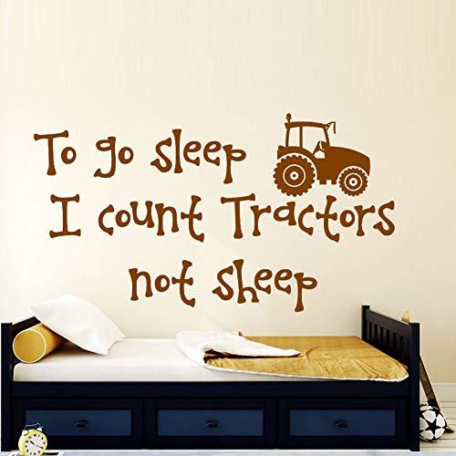 jiuyaomai Ich Zähle Traktoren Nicht Schafe Wandaufkleber Jungen Room Home Decor Vinyl Aufkleber Abnehmbare Cartoon Wandtattoos Für Kinder Schlafzimmer