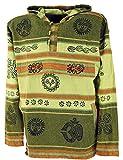 Guru-Shop Goa Kapuzenshirt, Baja Hoody Nepalhoodie, Herren, Lemon, Baumwolle, Size:XL, Sweatshirts & Hoodies Alternative Bekleidung