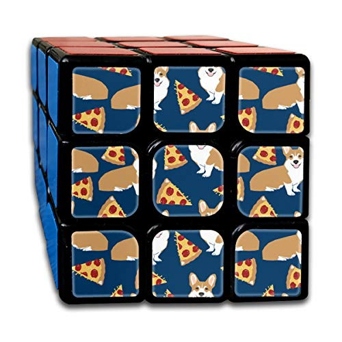 Corgi Pizza Navy Blue Kids Cute Funny Corgis Dog Pet Dog Cute Trendy for Baby Leggings Magic Speed Cubes Sets 3x3x3 Puzzles Toys Solid & Durable (56mm) - Baby Snap Leggings