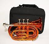 Cherrystone Taschentrompete Pocket Trompete mit Koffer orange