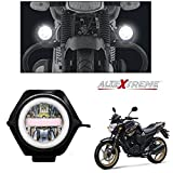 #4: AllExtreme U23 Auxiliary Fog Lamp Waterproof Driving Spot LED Lights with Blue Demon and Red Angel Eyes USB Charging Light for Bike Cars Truck ATV SUV Jeep Boat (30W, Pack of 1)