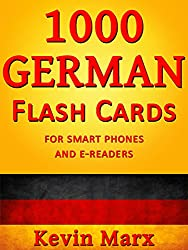 1000 German Flash Cards: For Smart Phones and E-Readers (English Edition)