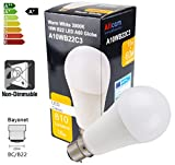 Allcam 10W B22 LED Bulb GLS Bayonet LED Lights, Ultra Bright 810 Lumen, 270° Beam Angle, replaces incandescent 60W-70W A60 Globe Bulbs 6000K Daylight Cool White