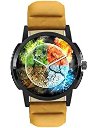Stylee Lite Attractive Stylish Sport Look Multi-Colour Dial Stylish Brown Leather Strap Analog Watch For Men &...