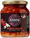 BIONA Organic Baked Beans in Tomato Sauce - Glass Jars 340 g (Pack of 6)