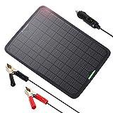 ALLPOWERS 18v 12v 10W Cargador Batería Mantenedor Panel Solar con Enchufe Cigarrillo, Línea...