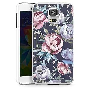 Samsung Galaxy S5 Housse Étui Protection Coque Fleurs Roses Poison