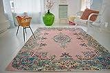 Rozenkelim.nl Pastell Vintage Teppich | im Angesagten Shabby Chic Look | für Wohnzimmer, Schlafzimmer, Flur Etc. | Pastell (275 x185 cm)