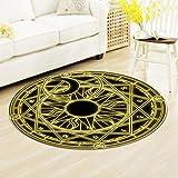 MAFYU Qualität Teppich 3D Druck Boden Kissen Schlafzimmer Tabelle Matte Antirutsch-matφ60cm