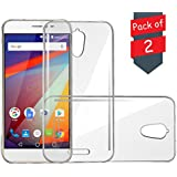 Jkobi® Exclusive Soft Silicone TPU Jelly Crystal Clear Case Soft Back Case Cover For Panasonic P85 -(Pack of 2 Transparent)