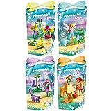 Playmobil Fairies Playset 9138 9139 9140 9141 Fairy friends with storks + Fairy friends with racoons + Fairy friends with owl and skunk + Fairy friends with deers