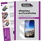dipos I 2X Schutzfolie klar passend für Huawei MediaPad X1 7.0 Folie Bildschirmschutzfolie
