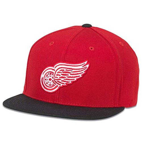 American Nadel NHL Heimspiele Retro Flach Krempe Snapback Cap, Herren, Rot, Einstellbar -