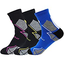 GATHER OTHER 3 Pares Calcetines de Deporte Profesionales Fast Dry Transpirable para Carrera,Ciclismo,