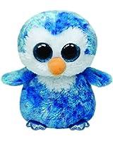 TY 37044 - Ice Cube Buddy - Pinguin mit Glitzeraugen, Plüschtier, groß, 24 cm, blau