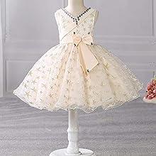 3d8dbaec2a287d Si Rosa by Hopscotch Adorable Champagne Bow Applique Sleeveless Dress-18-24  Months