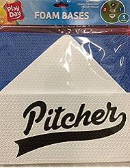 Bases de béisbol suave segura espuma todas las bases casa placa y jarra Mark