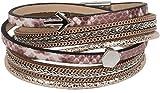 Estilo Breaker wickelarmband con cadena y de flecha, folat cinta de tela, cierre magnético pulsera, señorías 05040036