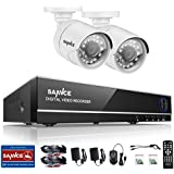SANNCE 8CH 5-in-1 1080N DVR Home Video Recorder Security Camera Systems And 2X1500TVL CCTV Security Camera, Support Email Alarm And Motion Detect, NO Hard Drive Included