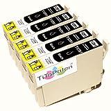 *TITOPATEN* 5x Epson Workforce WF 3520 DWF kompatible XL Druckerpatrone ersetzt Typ T1291-1294 - Schwarz - Patrone MIT CHIP !!!