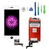 Ecran De Remplacement Pour iPhone 7 Ecran Tactile LCD Kit De Réparation Ecran D'affichage 3D Touche Avec Kit D'outils Blanc (4.7 pouces)