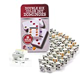 Wish key Double 6 Color Dot Dominoes 28 Piece Match & Educational Block