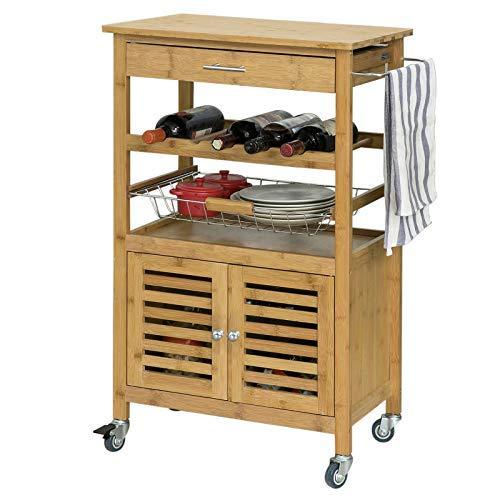 Praktische Küchenwagen mit viel Stauraum, Schubladen und Rollen