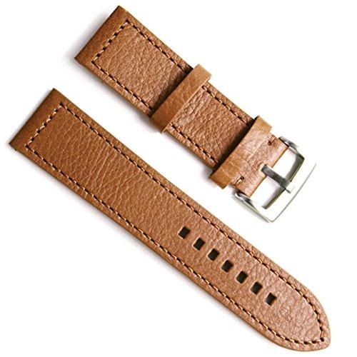 greenolive-23mm-handmade-vintage-cowhide-leather-watch-strap-watch-band-brown-stitch-brown