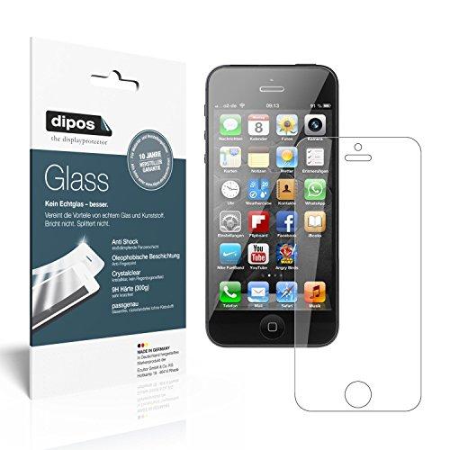dipos I 2x Panzerfolie klar passend für Apple iPhone 5 / 5S / 5C /SE Schutzfolie 9H Displayschutz-Folie (Nass Fall 5c Iphone)