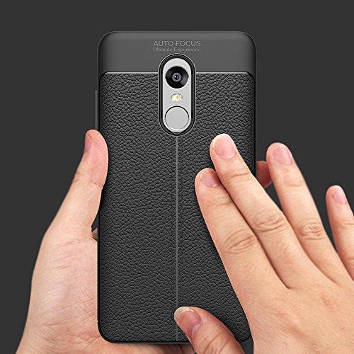 Coque Xiaomi Redmi Note 4X, MSVII® Anti-Shock Silicone TPU Souple Coque Etui Housse Case et Protecteur écran Pour Xiaomi Redmi Note 4X - Rouge / RED JY90054 Noir