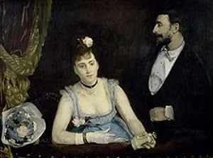 Eva Gonzales – A Loge at the Theatre des Italiens (Une Loge aux Italiens) c. 1874 Eva Gonzales (1849-1883/French) Musee d'Orsay Paris Poster (45,72 x 60,96 cm)