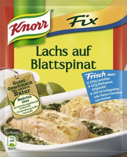 Knorr Fix für Lachs auf Blattspinat, 10er Pack (10 x 28 g)