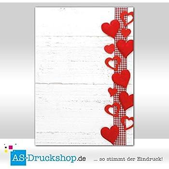25 Blatt Herzsammlung DIN A5 Designpapier Hochzeit//Liebe